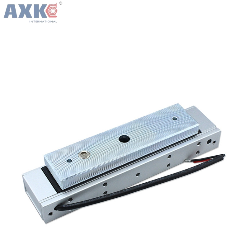 AXK Single Electric Light Door Lock 12V Magnetic Electromagnetic Lock 180KG (350LB) Holding Force For Access Control System new arrival 1000 kg 2200lb holding force electric shear magnetic lock for access control or intercom system