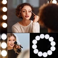 10 LED Bulb Vanity Makeup Mirror Light Makeup Lamp Kit Lens Headlight Hollywood Dresser Lamp Accessor USB Vanity Mirror Lamp