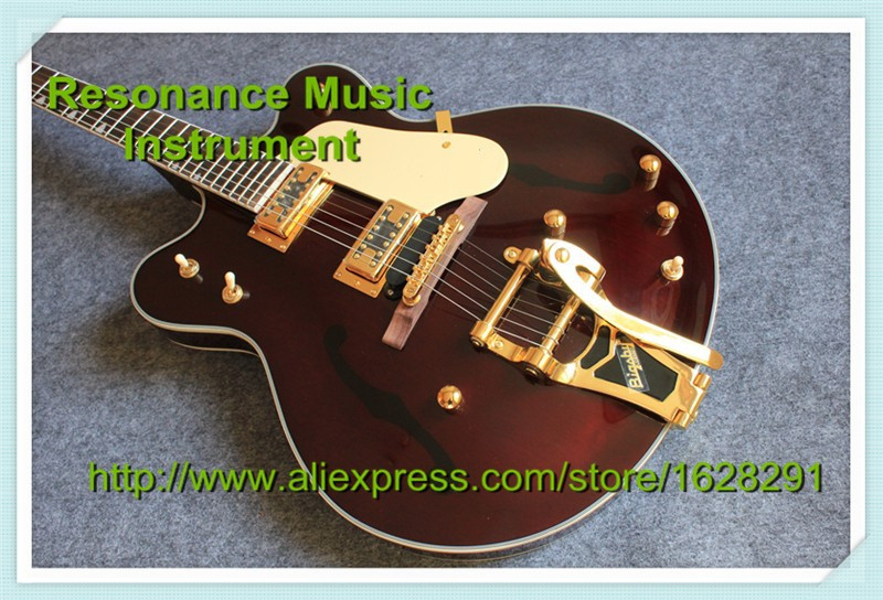 Custom Shop Gret G6122-1962 Chet Atkins Country Gentleman Electric Guitar Brown Color Guitar China Factory china s oem firehawk custom shop electric guitar lp color shell inlays color binding double water ripple