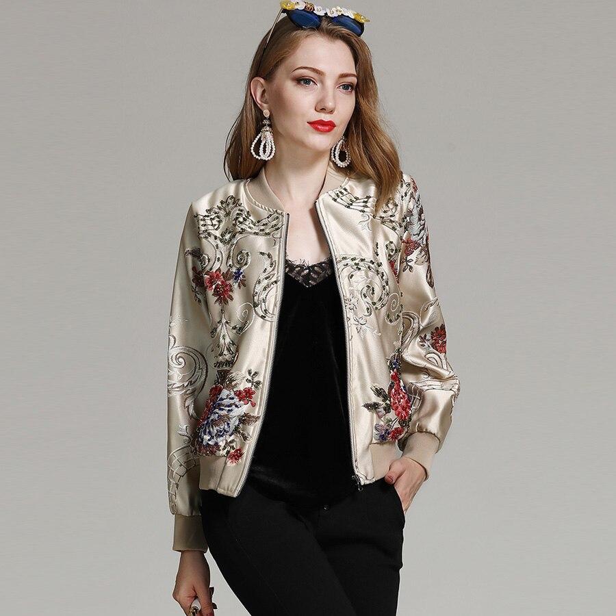 Designs Photo Femmes Royaume De Broderie Piste Élégantes Style Mince Patch As Mode Veste 2018 Automne Luxe Court Aeleseen uni Hiver qSMVUzp