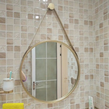 Iron Wall Hanging Round Mirror