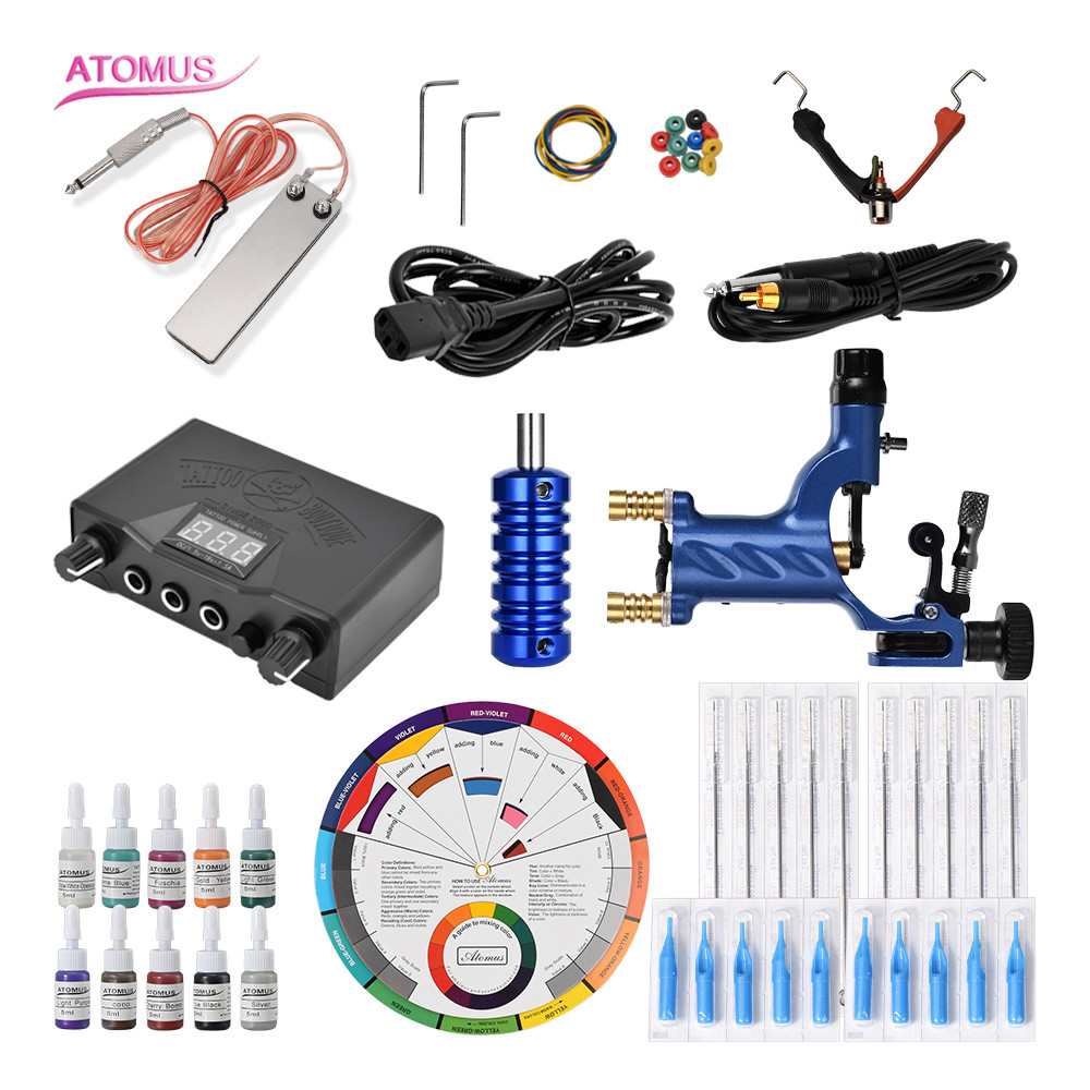 Tattoo Machine Professional Complete Tattoo Kit Rotary Machines Professional Liner Shader Accessories Machine Gun Complete SetTattoo Machine Professional Complete Tattoo Kit Rotary Machines Professional Liner Shader Accessories Machine Gun Complete Set