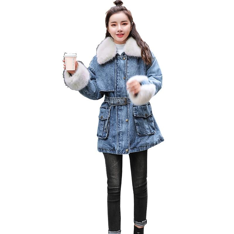 Pardessus Et Automne De Vers Grand Le Amovible Jeans Chart Mode Bas Veste D'hiver La Laine col See Femmes À Manchette Zgradg