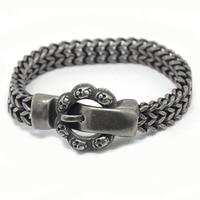 2018 Matte Bike Chain Bracelets For Men 25cm Chunky Heavy Stainless Steel Brushed Black Link Chain Bracelet Male Jewelry