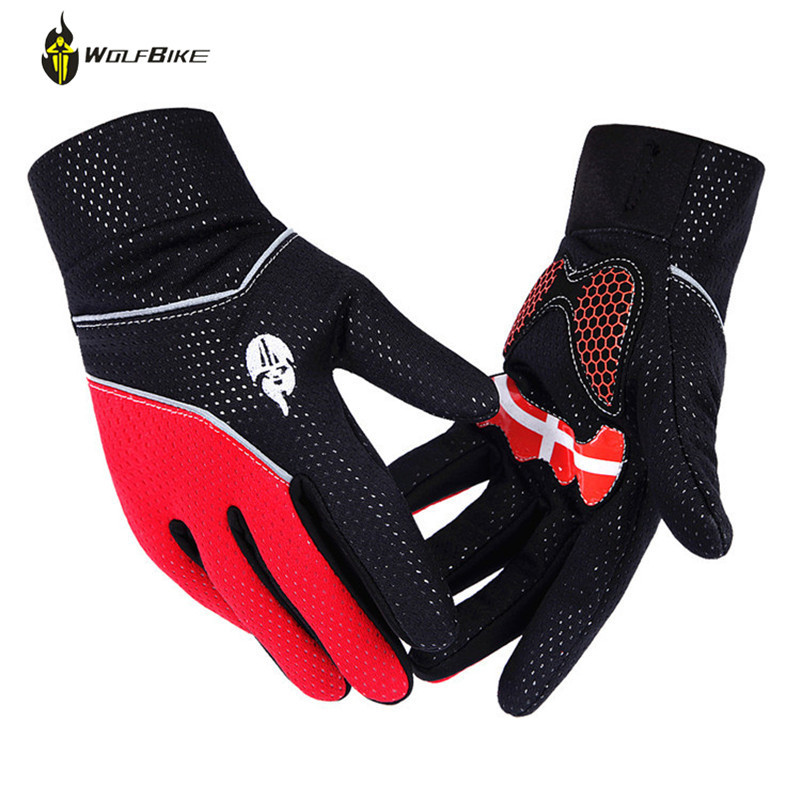WOLFBIKE Winter Warm Fleece Rainproof <font><b>Full</b></font> Finger Bicycle Luvas Anti Shock Slip Silicone Pad Bike Guantes Gel MTB <font><b>Cycling</b></font> Gloves