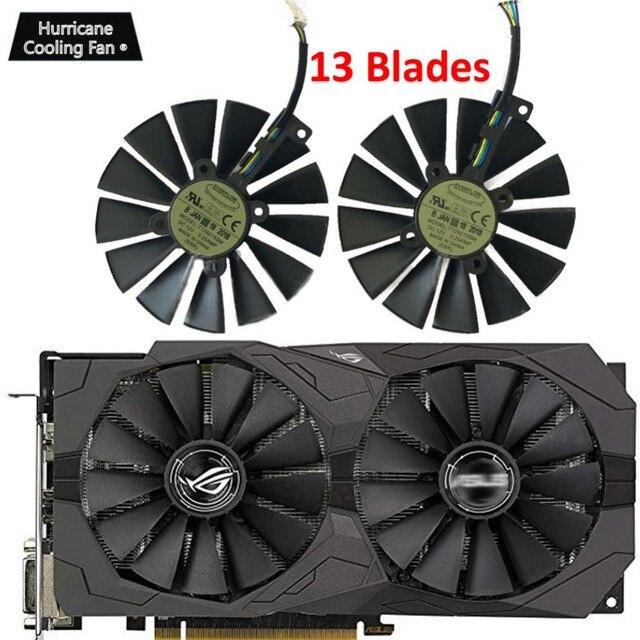 95MM T129215SM 4Pin 12V Graphics Card Fan for ASUS STRIX GTX 1050 1050Ti 1070Ti 1080Ti RX 470 570 580 RX470 RX570 RX580 Cooler