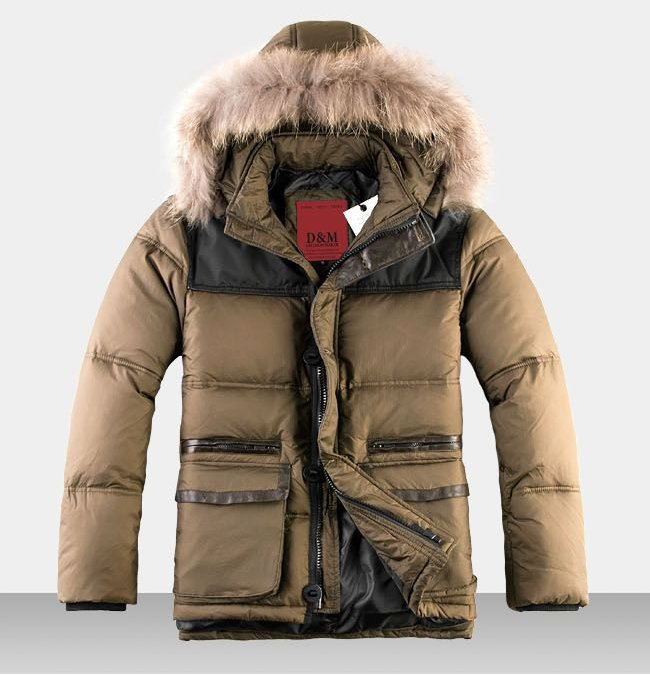 2013 Parka Men Winter Jacket Goose Down Jacket Men Down & Parkas ...