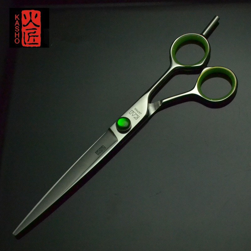 7 inch KASHO Hairdressing Scissors made of SUS440C Titanium Salon Hair Cutting Scissors /Hair Shears / Barber Scissors new 50pcs pack paramedic trauma shears scissors bandage scissors first aid 7 08