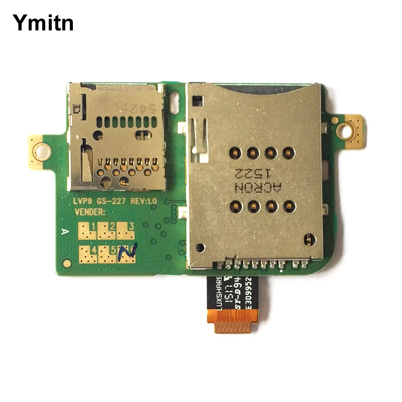 Ymitn Micro SD TF & Sim Card Tray Slot Flex Cable For Lenovo Tablet A7600 A7600H A7600F A7600HV 3G Version