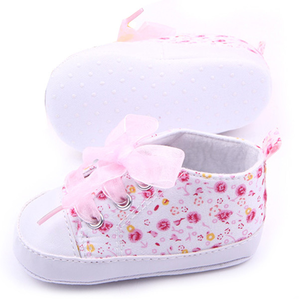 3 Sizes Toddler Girl Floral Soft Sole Baby Shoes Non-slip Sneaker Prewalker New