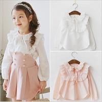 Hot escola Meninas Conjuntos de Roupas Roupa Dos Miúdos Conjuntos de Roupas Crianças Casual camisa + saia set 2-7a roupas meninas da criança