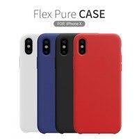 Для Apple iphone X чехол NILLKIN Flex чистый случай Тонкий мягкого жидкого силиконового каучука противоударный чехол для телефона для iphone X 5,8 дюймов сл...