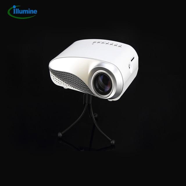 Мульти-карман медиа-мини-проектор портативный из светодиодов проекция микро-карты домашнего кинотеатра жк-hdmi VGA USB av-тв развлекать RD-802WHITE