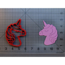 Cute Unicorn Head Cookie Cutter Set Custom Made 3D Printed Fondant Cupcake Cake Decorating Tools Stamp Mold