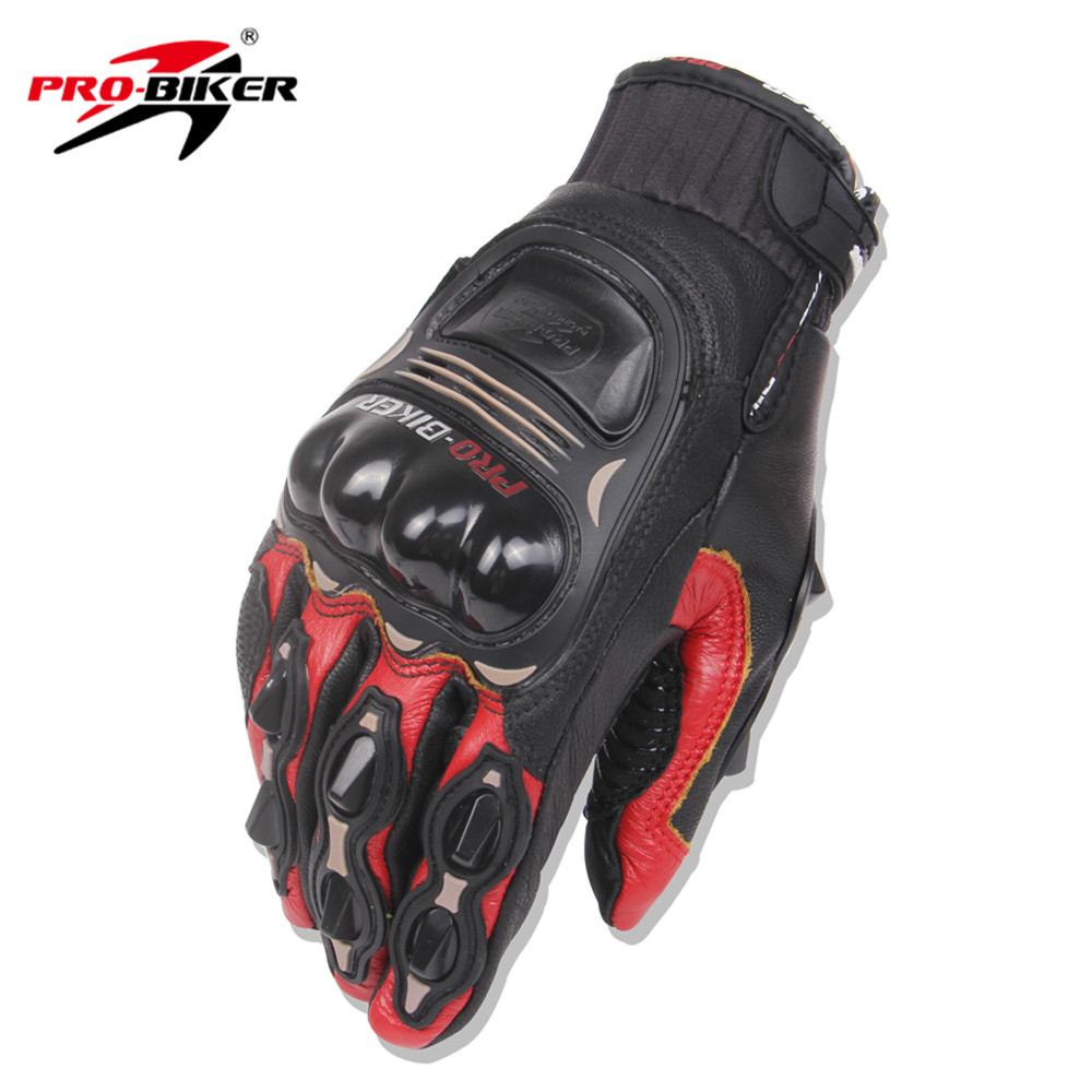 Womens leather biker gloves - Pro Biker Men Women Motorcycle Gloves Leather Motocross Off Road Gloves Racing Guantes Moto Riding