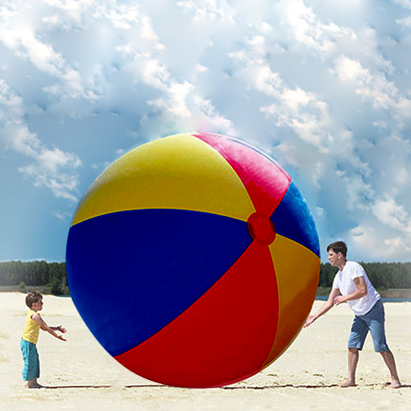 200 CM Super Large Charm Colorful Inflatable Beach Ball Outdoor Play Games Balloon Giant Volleyball PVC Pool & Accessorie giant inflatable aqua sports volleyball game inflatable beach volleyball court for kids and adults