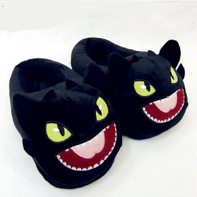 Беззубый Приручить Дракона DreamWorks хлопка плюшевые тапочки домой теплые тапочки Приручить Дракона Черный Дракон NightFury