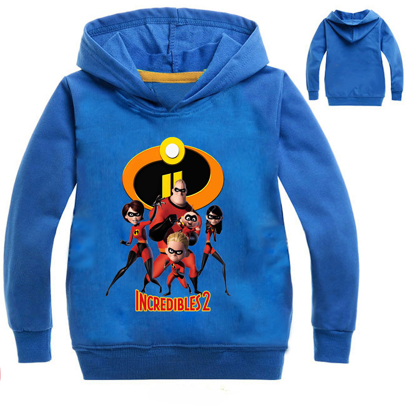 The Incredibles 2 Print Hoodies Boy Girls Autumn full Hoodie Tops Costume For Kids Clothing Baby Cotton T Shirt T077 2018 autunm warm sweatshirt parka folk custom print hoodies cotton women crop top hoodie moleton feminino dropshipping ag 15