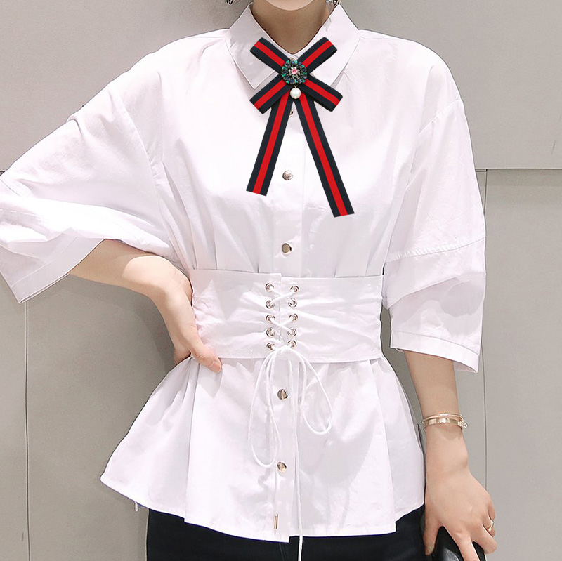 Free fashion collocation Brooches delicate Broche Manual Bow Brooch Women Clothing Accessories College Cloth Art