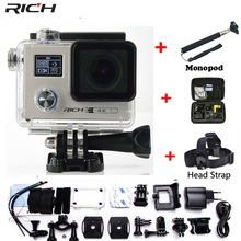 RICH Action camera F88 Ultra HD 4K 24FPS WiFi 1080P/60fps IMX078 170D lens Helmet Driving Cam go waterproof pro camera