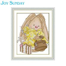 Can't Pick up the Luggage Girl Joy Sunday Cross Stitch Kits