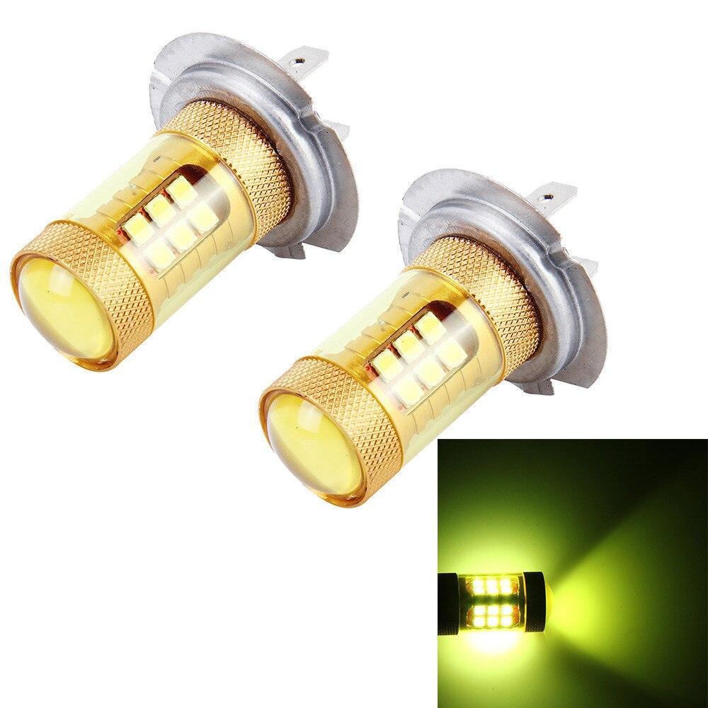 2pcs yellow 3000k 55w h7 led lamp ampoule car fog lights. Black Bedroom Furniture Sets. Home Design Ideas