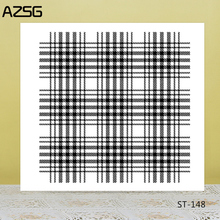 AZSG Pixel Line Style Square Shape Clear Stamps/Seal For DIY Scrapbooking/Card Making/Album Decorative Silicon Stamp Crafts
