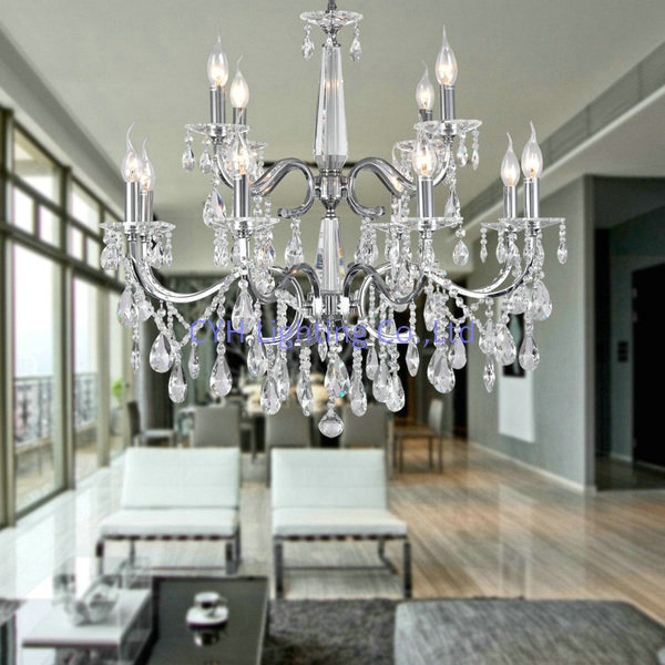 Free Shipping Modern Crystal Chandelier For Living Room High Ceiling 110 240v Is Available Shipped