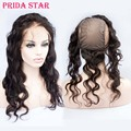 "Body Wave Peruvian Virgin Human Hair 360 Lace Frontal With Cap Pre Plucked 13""x4"" 360 Degree Lace Frontal Closures With Wig Cap"