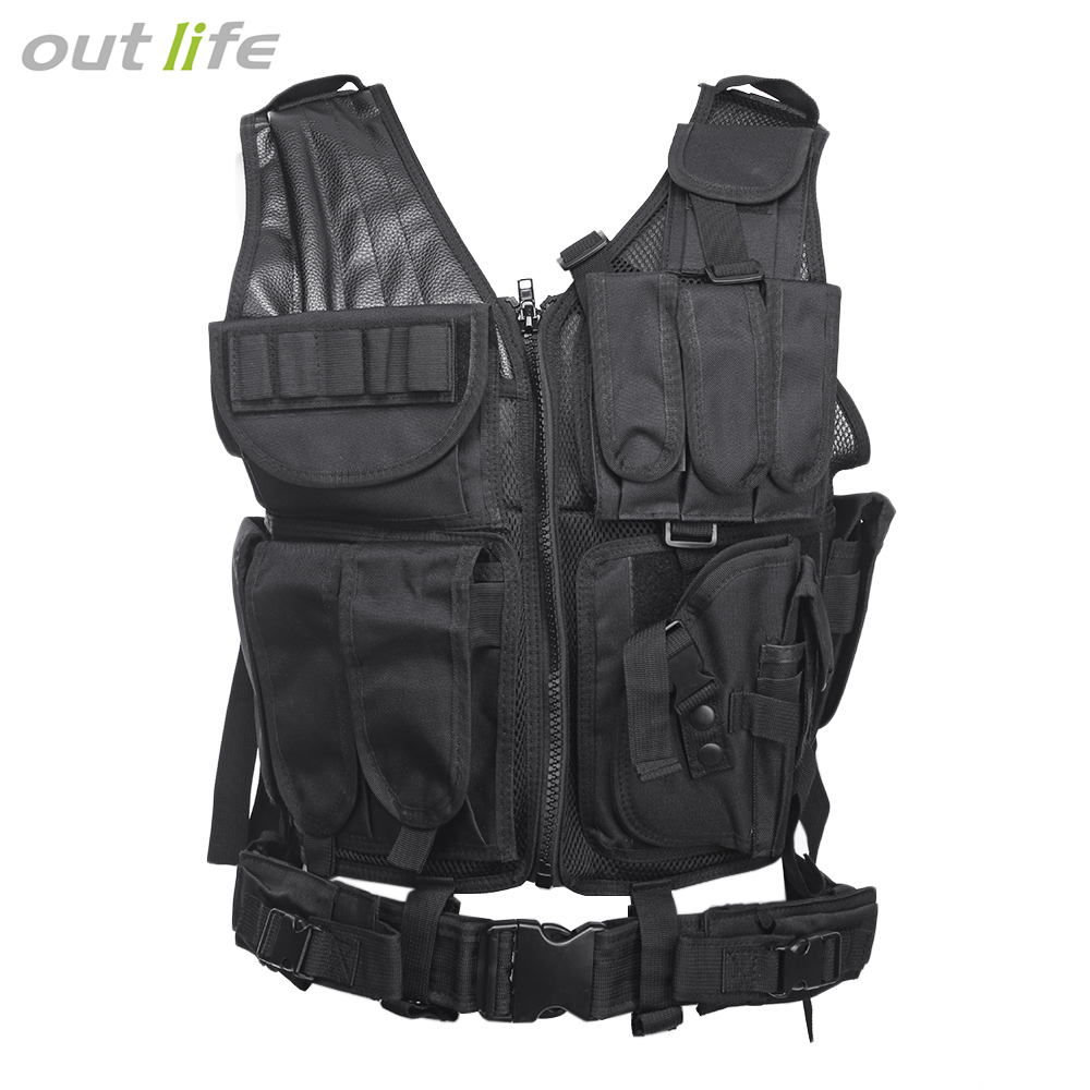Outlife Hunting Vest Men Tactical Molle Vest Tactical Paintball Military Swat Assault Shooting Hunting Molle Vest With HolsterOutlife Hunting Vest Men Tactical Molle Vest Tactical Paintball Military Swat Assault Shooting Hunting Molle Vest With Holster
