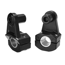 2PCS 7/8 22mm Universal Motorcycle HandleBar Mount Black CNC Aluminum Handle Fat Bar Clamp Riser For Off-road ATV Scooter