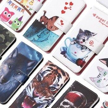 Перейти на Алиэкспресс и купить Чехол-кошелек с мультяшным принтом GUCOON для ZTE Axon Blade 20 10 A5 A7 Prime smart 10s Pro 5G 2020 Модный чехол из искусственной кожи для телефона