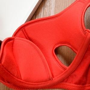 Image 5 - Conjunto de Sujetador de algodón de talla grande para mujer, lencería Sexy de realce, Copa fina, conjuntos de bragas cómodas