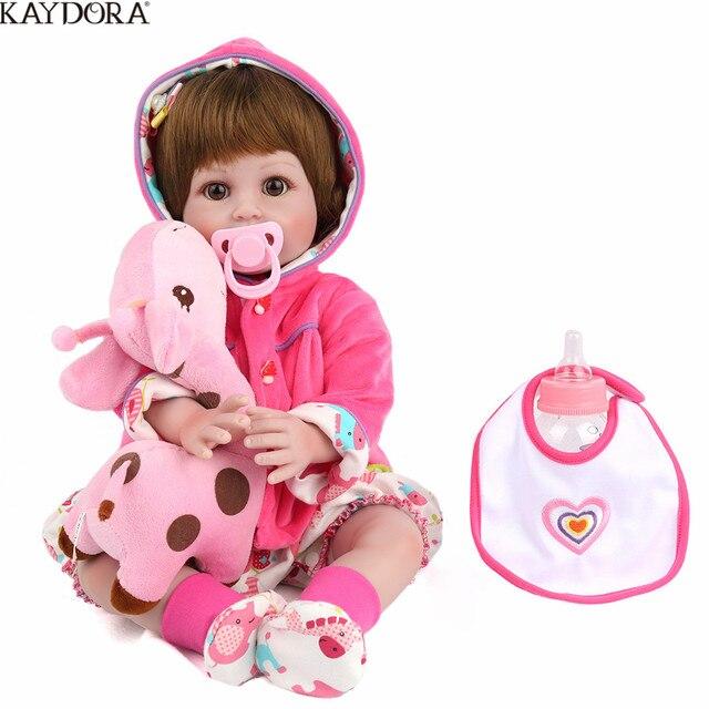 KAYDORA 55cm Reborn Doll Baby Newborn Lifelike Baby Reborn Menina Realistic Silicone Dolls Girls Boneca Toys For Girls