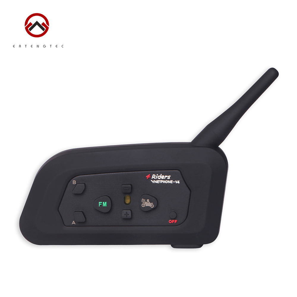 Bluetooth Referee Intercom Headset Interphone V4C Walkie-Talkie 1200m For 4 Users Waterproof 150 Hours Standby Time Full-duplex bluetooth walkie talkie intercom headset wireless bluetooth headset durable 20hz 20khz walkie talkie adapter for baofeng