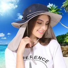 цена на Wide Brim Men Women Bucket Hat With String Waterproof Outdoor Fishing Hunting Hat Fisherman Bone Caps Mountain Climbing Sun Hat