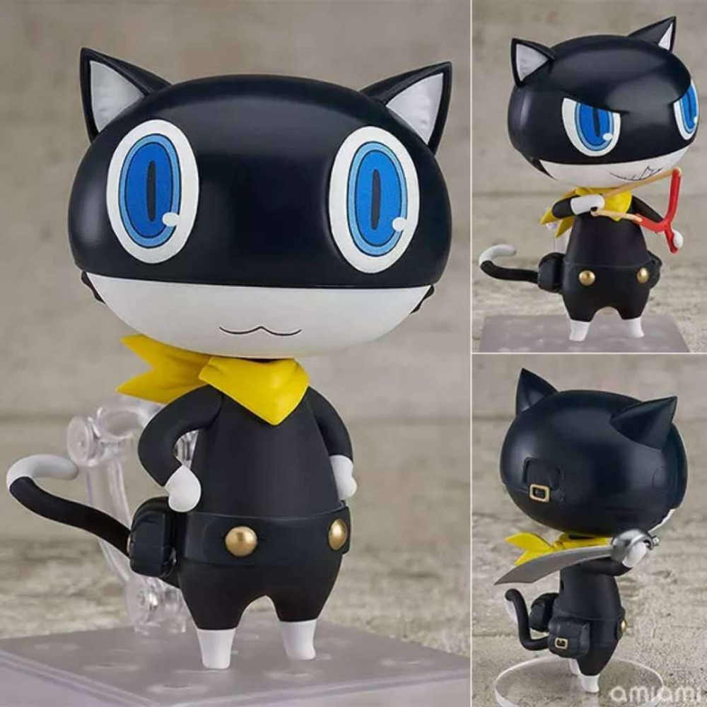 Persona 5 Christmas Gifts.New Hot 10cm Persona 5 P5 Morgana Action Figure Toys