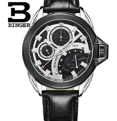 Relogios masculinos 2015 Luxury Brand Binger Watch Men Fashion Quartz Business Casual waterproof Wristwatch Full Steel