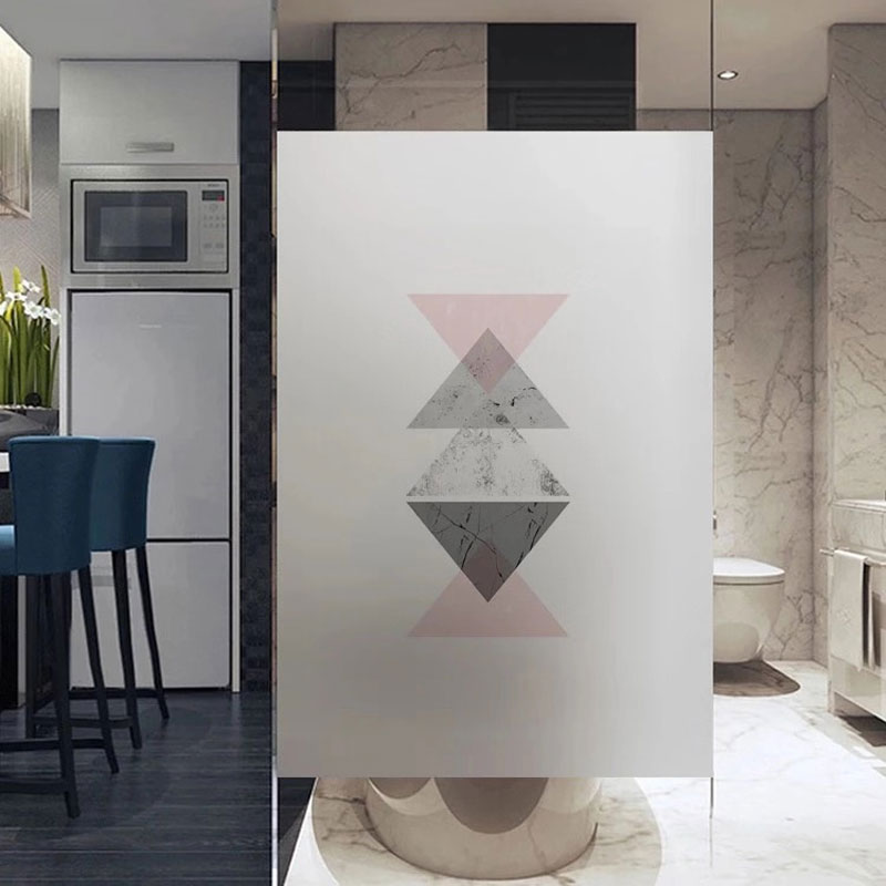 2019 New stained Frosted Self-adhesive film Windows Film electrostatic Glass sticker Sliding Door Bedroom Custom size home decor