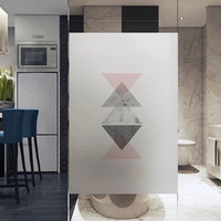 2019 New stained Frosted Self adhesive film Windows Film electrostatic Glass sticker Sliding Door Bedroom Custom size home decor