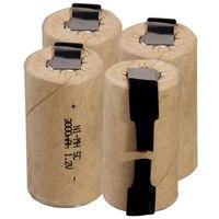 Самая низкая цена 4 шт аккумулятор SC 1,2 v батареи перезаряжаемые 3000 mAh nimh батарея для электроинструментов akkumulator