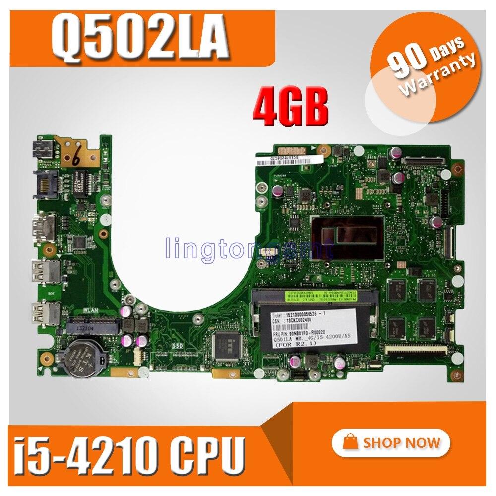 Q502LA motherboard i5 4210 4GB Memory REV 2 0 For ASUS Q502 Q502L Q502LA Laptop motherboard
