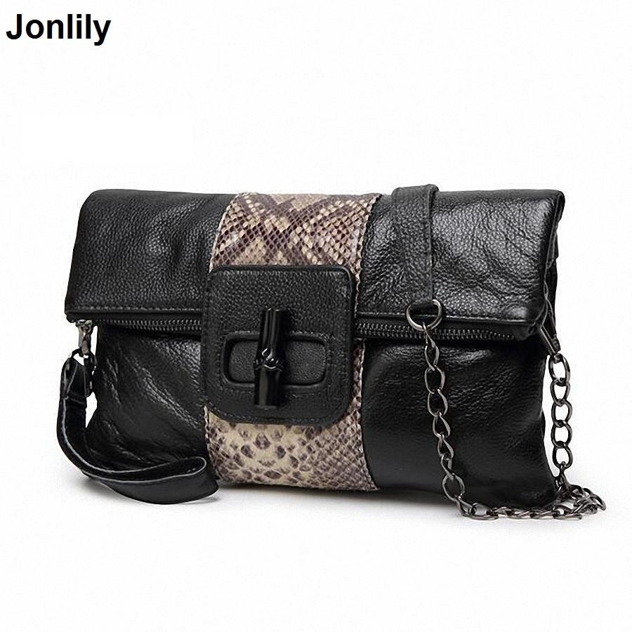 Genuine Leather Messenger Bag Snake pattern Women Shoulder Bag Envelope Women Clutch Bag Small Crossbody bag SLI-208 цена 2017