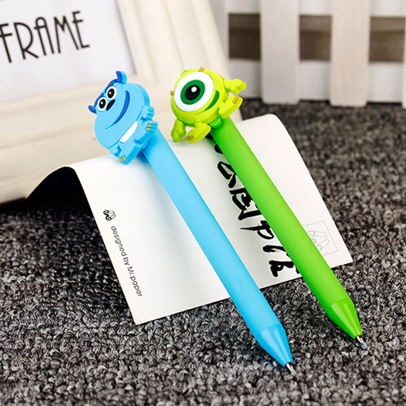 Monsters University Gel Pens Kawaii 0.5mm Black Pen Candy color Sullivan Popeyes pens for Kid Gift Papelaria Stationery