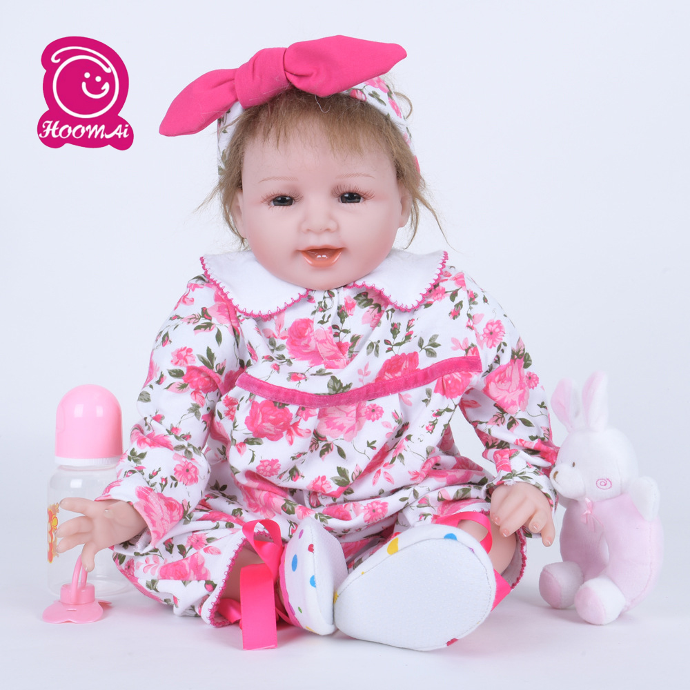 55cm Soft Cloth Body Silicone Reborn Baby Dolls Handmade Lovely Baby Doll Early Education Doll Baby Shower Toys Brinquedos55cm Soft Cloth Body Silicone Reborn Baby Dolls Handmade Lovely Baby Doll Early Education Doll Baby Shower Toys Brinquedos