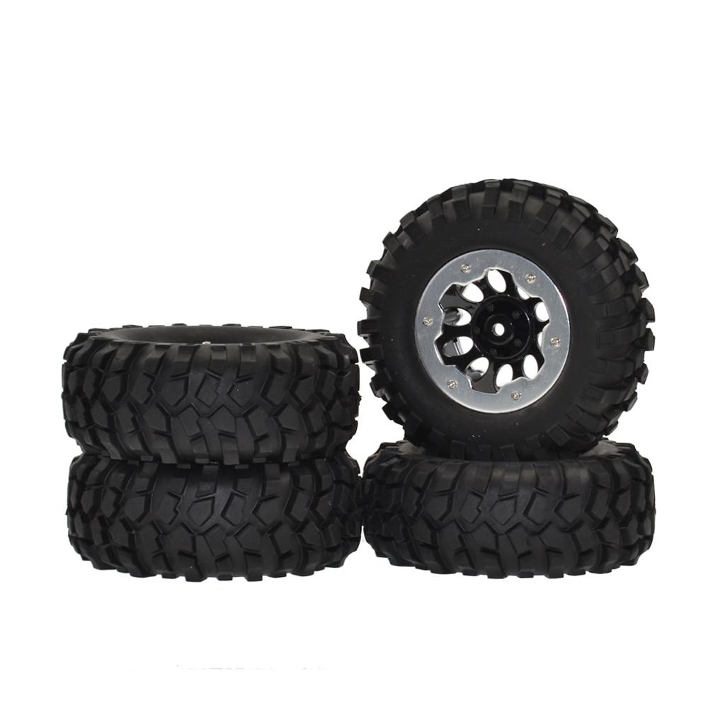 Rc 1/10 Crawler 96mm Tire Set 1.9 Inch Beadlock Wheels Rims for RC4WD D90 Tamiya CC01 4pcs 4pcs rc crawler 1 10 wheel rims beadlock alloy 1 9 metal rims rock crawler wheel hub parts for rc car traxxas rc4wd scx10 cc01
