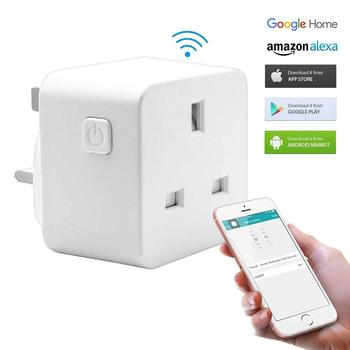 20pcs Smart UK Plug WiFi control Socket Timer Switch outlet Voice control Work with Alexa and Google IFTTT free shipping