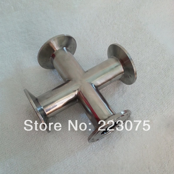 New arrival  Stainless Steel SS304 quick install OD 51mm Sanitary Clamp connection 4 ways same DIA  +  Pipe Fitting