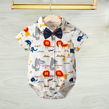 Babys Short Sleeved Cartoon Coating For 6M-3Years