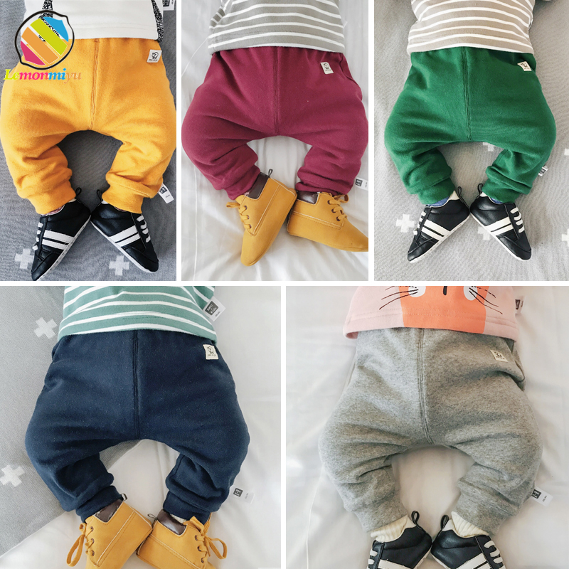 Lemonmiyu Baby Dispear Pants Girls High Waist Warm Fleece Thicked Pants Full Length Winter 1 Boys Knitted Leggings Kids Pants